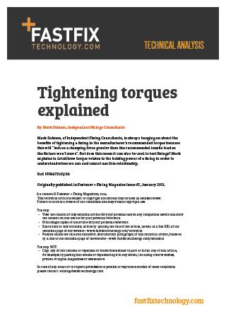 Tightening Torque explained